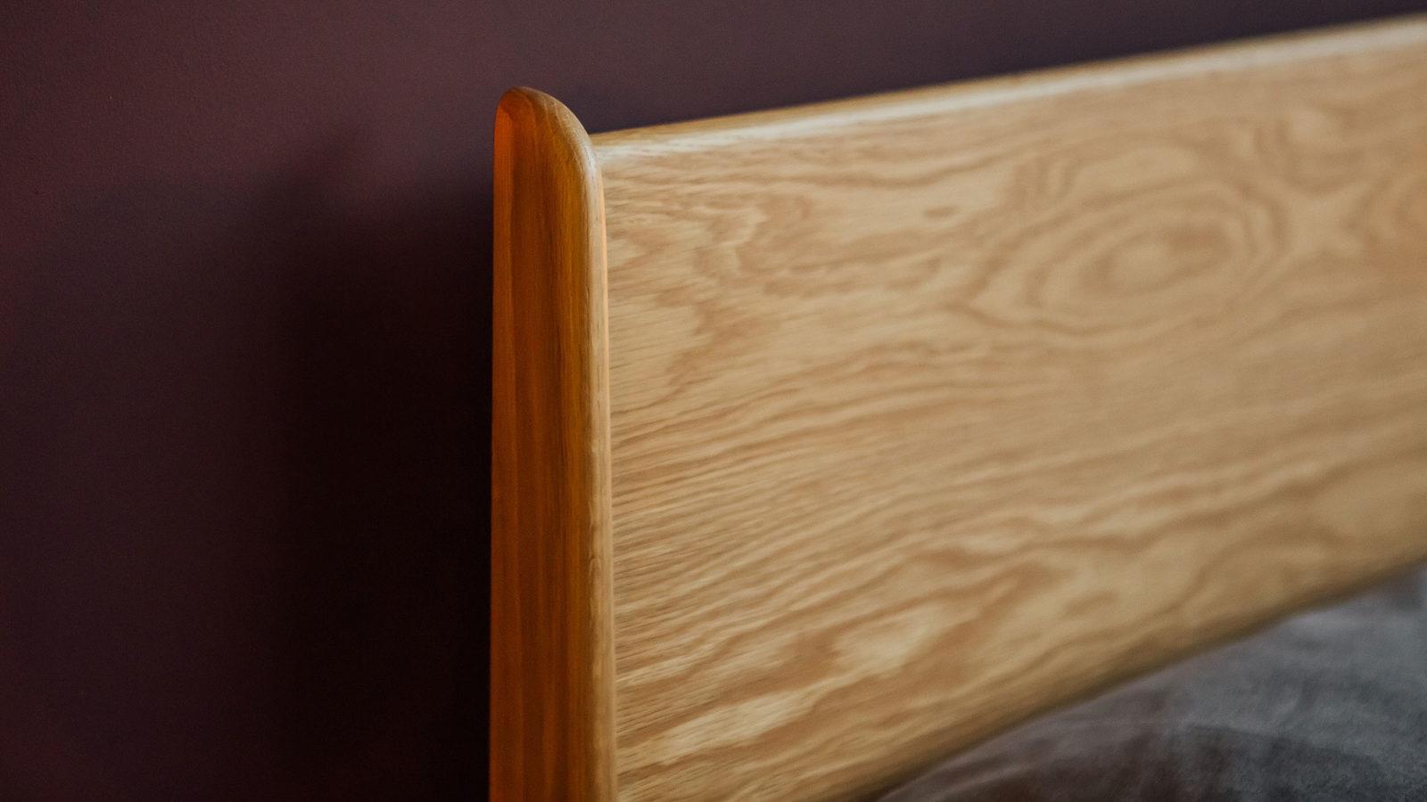 The Camden Bed - Solid Oak hand-crafted Headboard