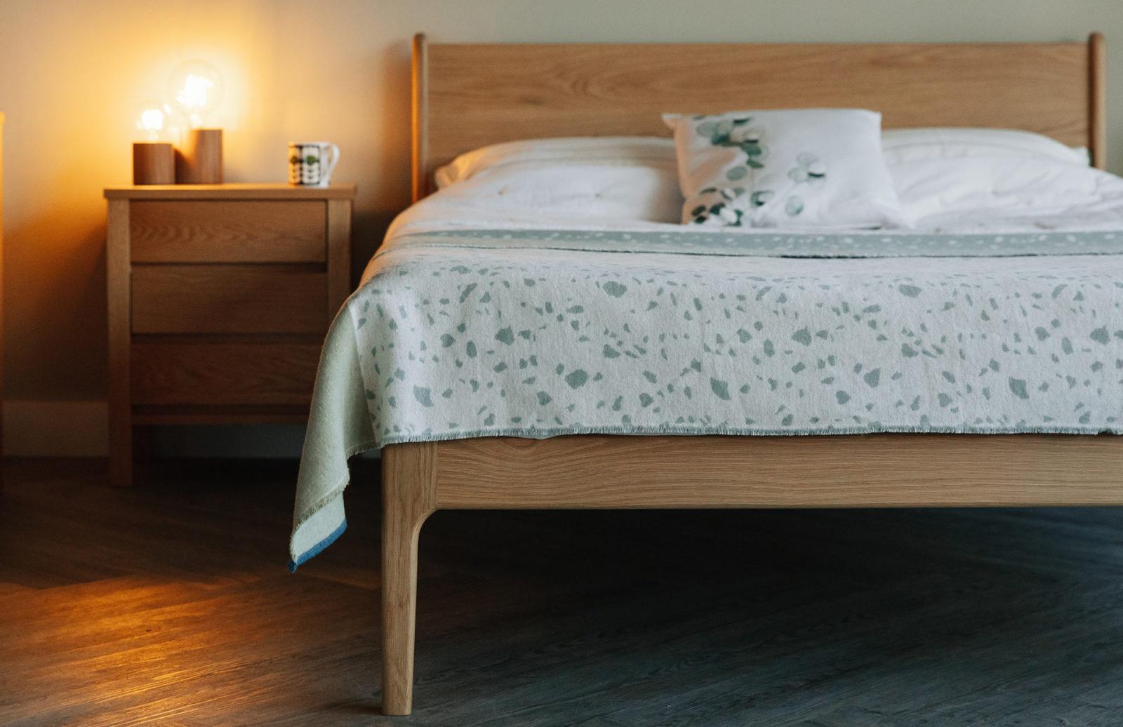 Camden handmade bed in solid oak
