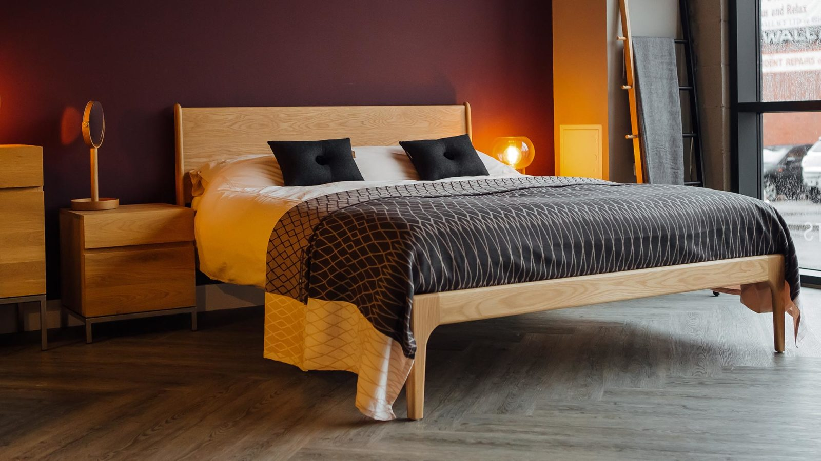 Solid Oak Camden Bed designed and hand-made by Natural Bed Company