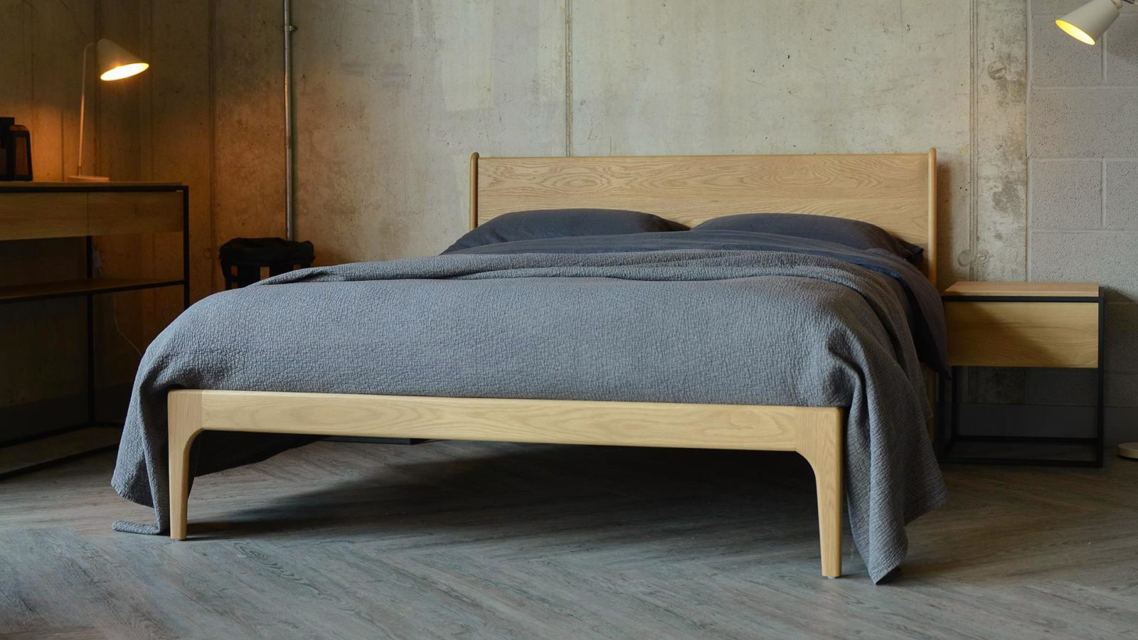 Camden Retro bed Hand made in Britain and built to last