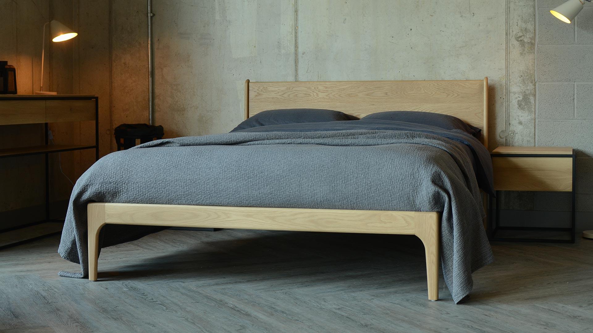 Camden handmade Wooden bed in Oak