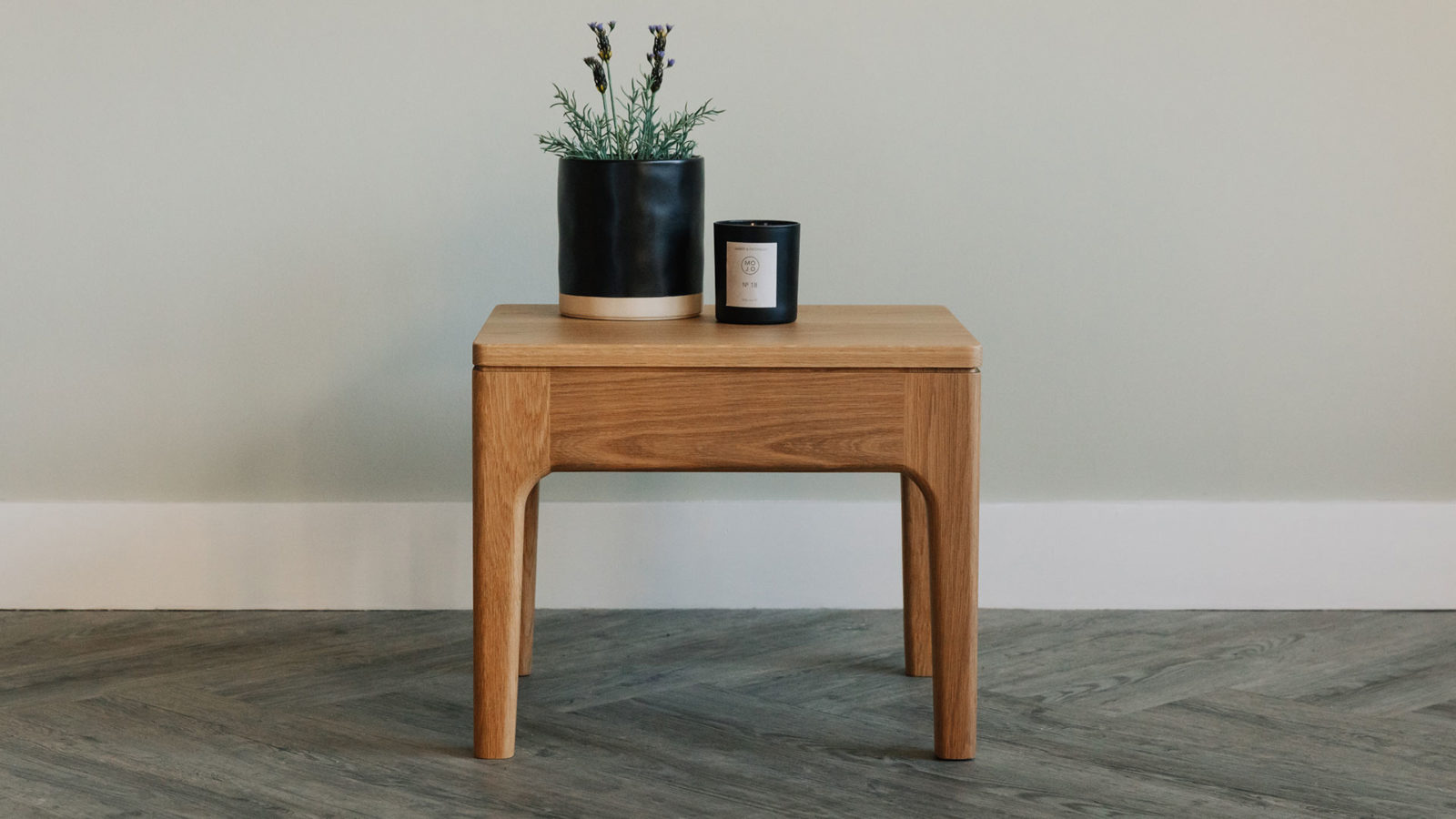 Hand crafted Camden wooden side table in Oak