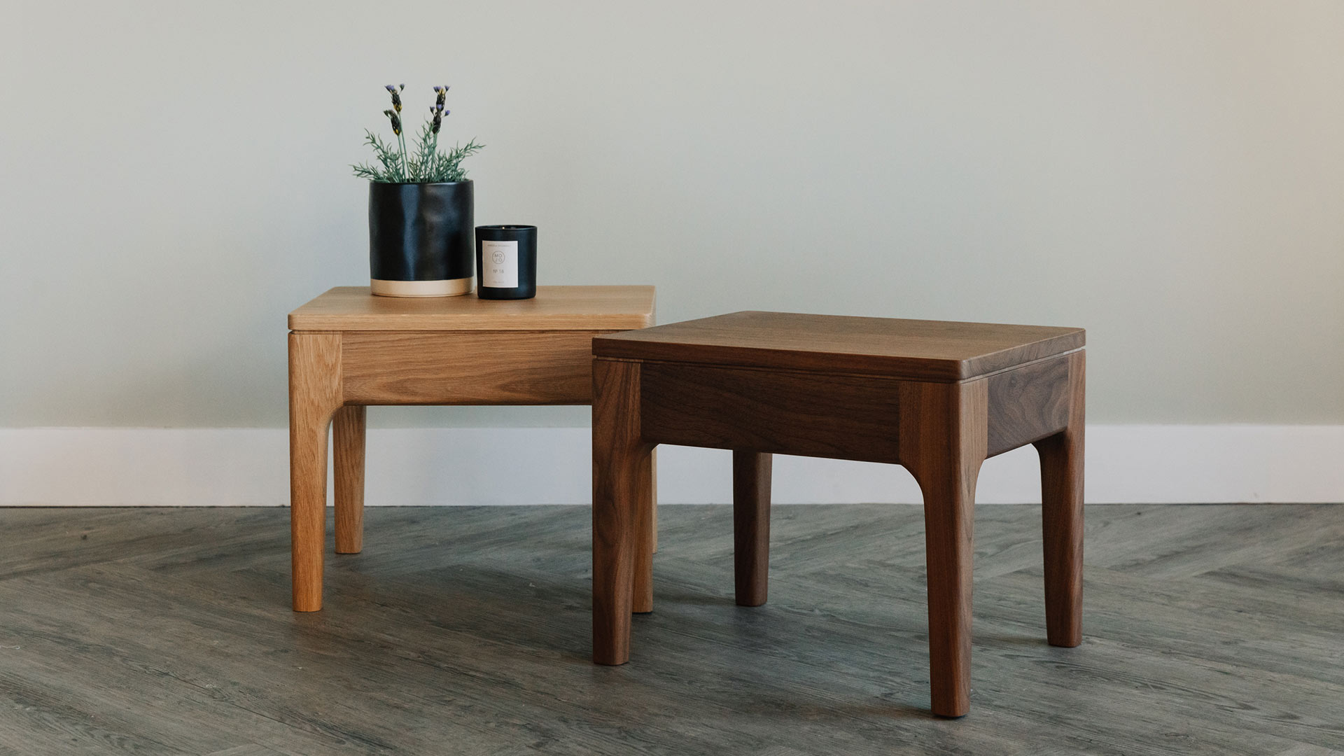 Picture of: Camden Bedside Table Solid Wood Natural Bed Company