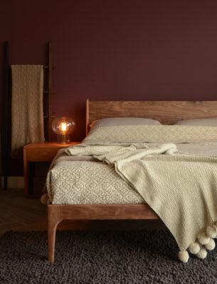 solid walnut Camden bed
