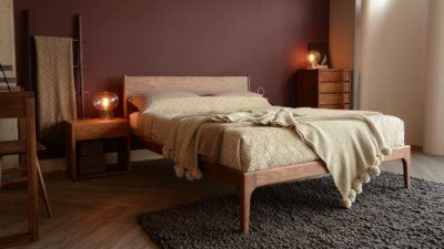 solid walnut Camden bed