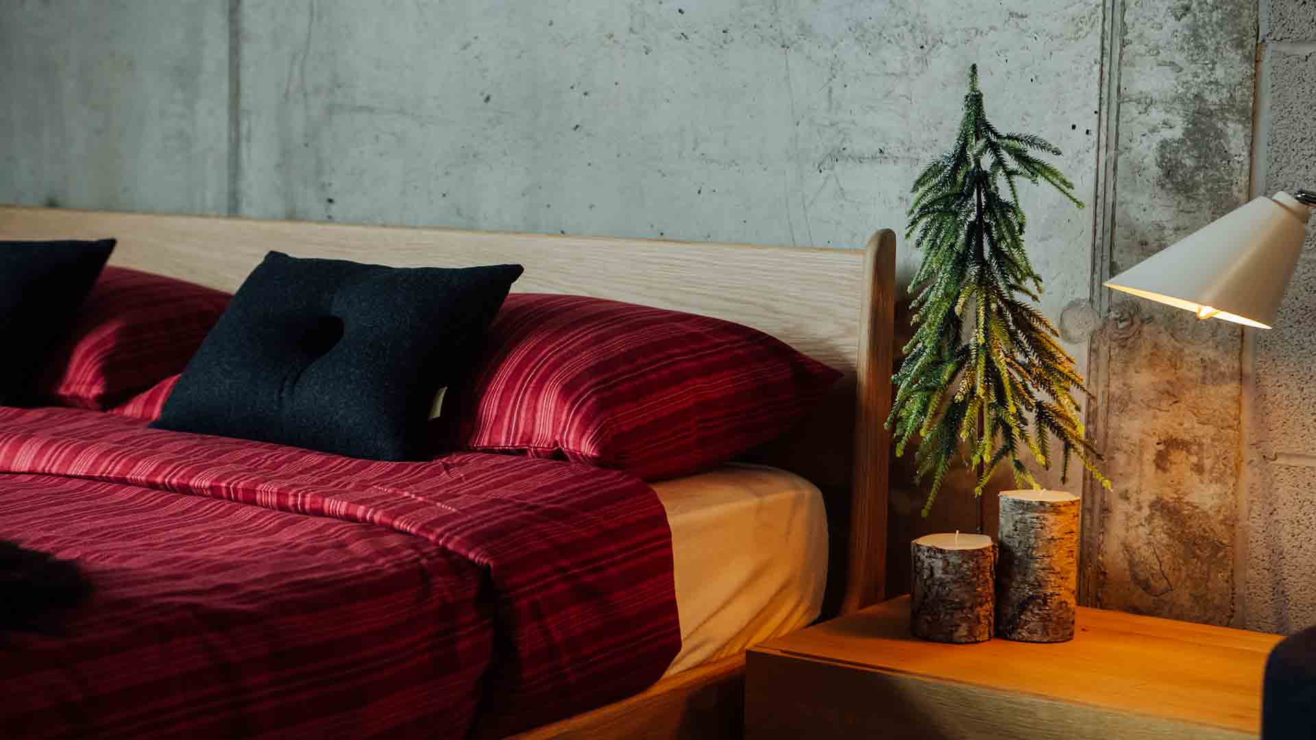 Christmas-bedding---red-striped-duvet-set-on-Pimlico-close-up