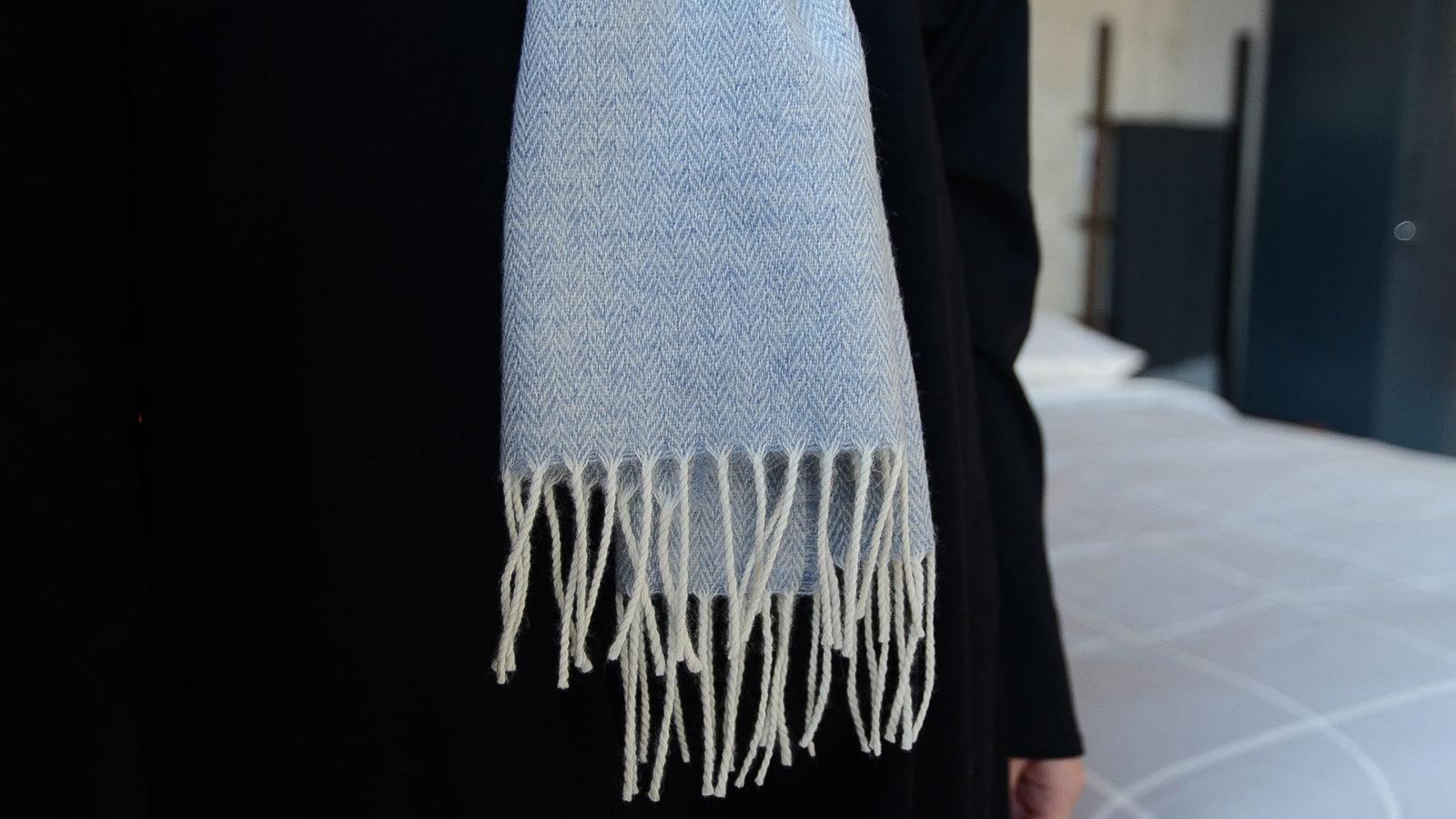 powder blue scarf