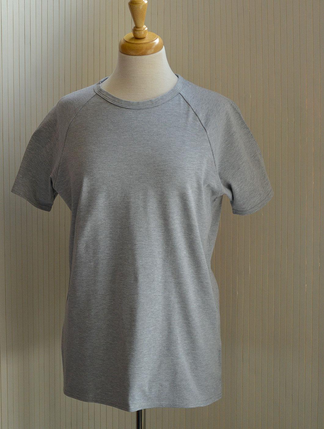 grey-marl-round-neck-T-shirt