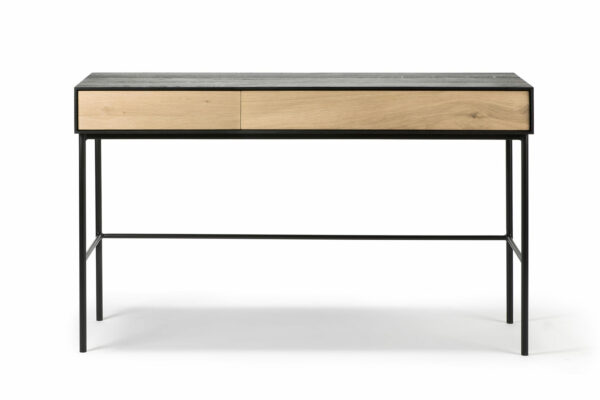 Blackbird table with drawers - oak