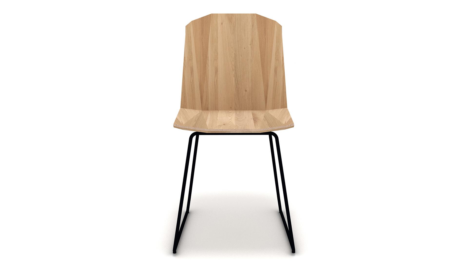 Ethnicraft-Facette-chair-Oak-front