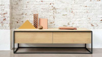 Ethnicraft-Monolit-TV-cupboard-Oak-with-black-frame