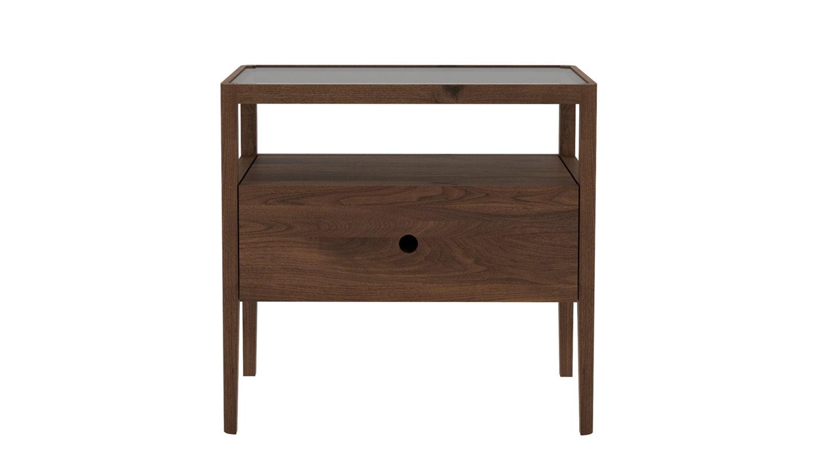 Ethnicraft-Spindle-bedside-table-Walnut