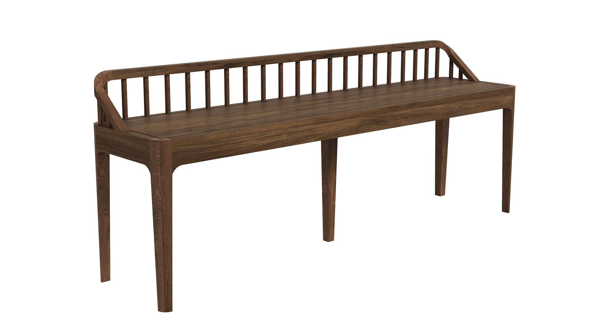 Ethnicraft-Spindle-bench-Walnut
