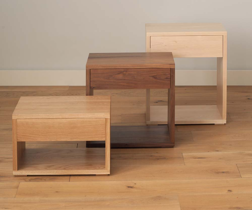 Find the right solid wood bedside table for your bed at Natural Bed Company
