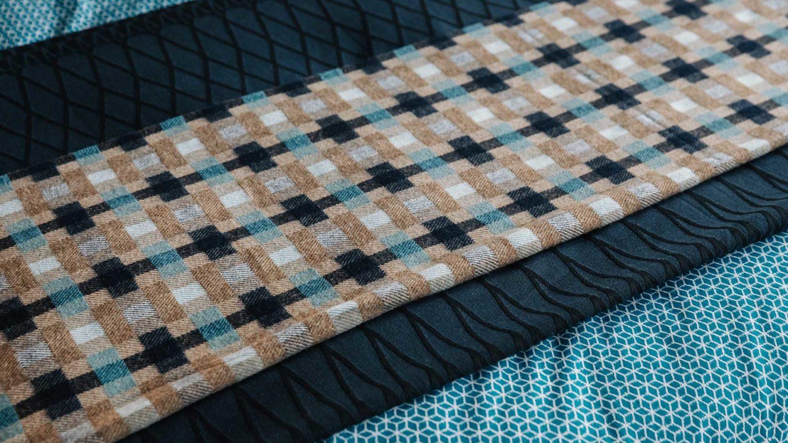 grid pattern wool throw