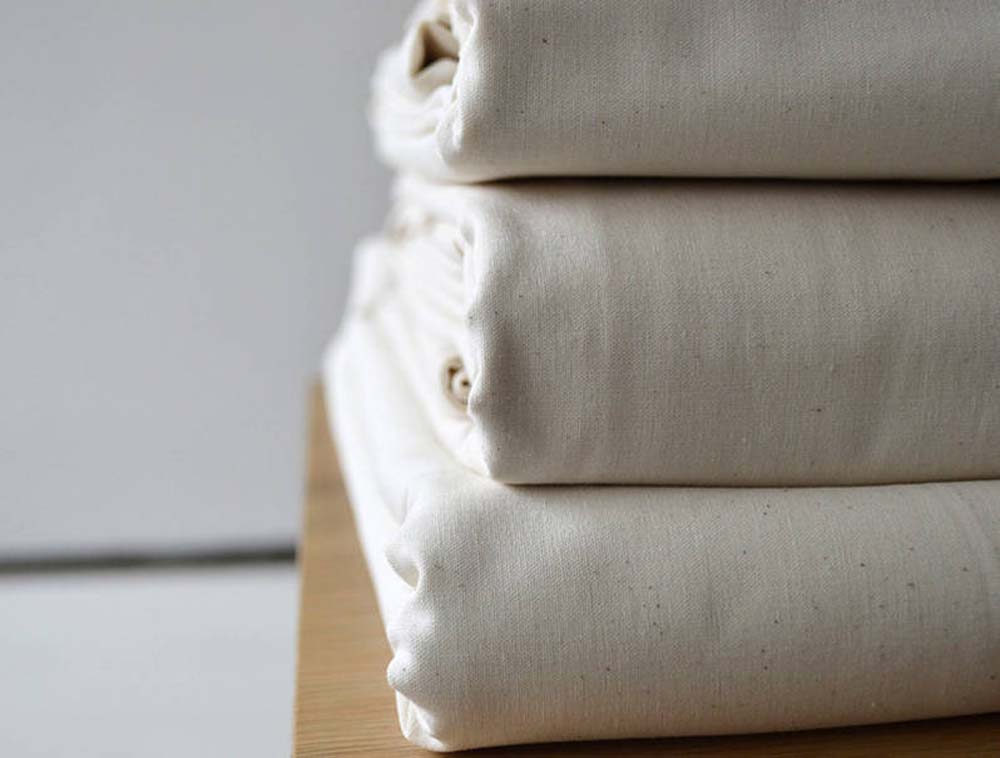 Certified Organic products - organic undyed unbleached cotton bedding