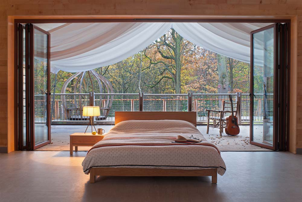 Autumn Bedroom Look - features hand crafted Sonora low wooden bed