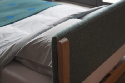 Iona padded-headboard back detail