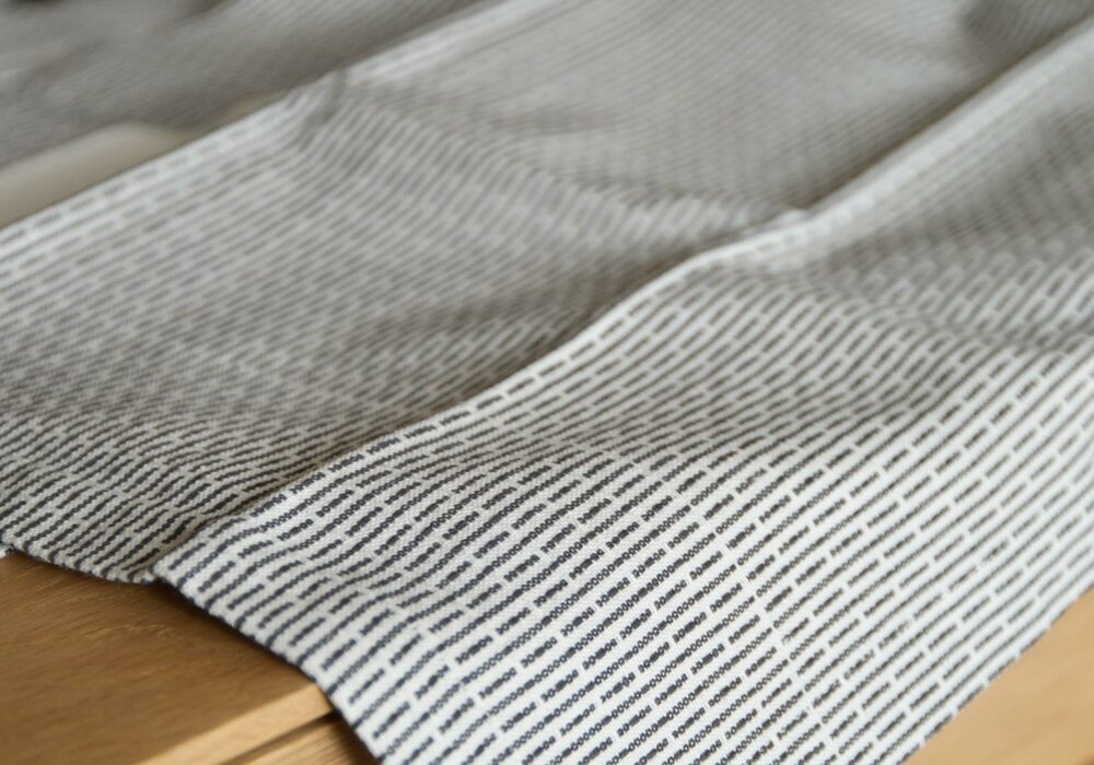 certified organic cotton towels modern monochrome weave pattern grey and white