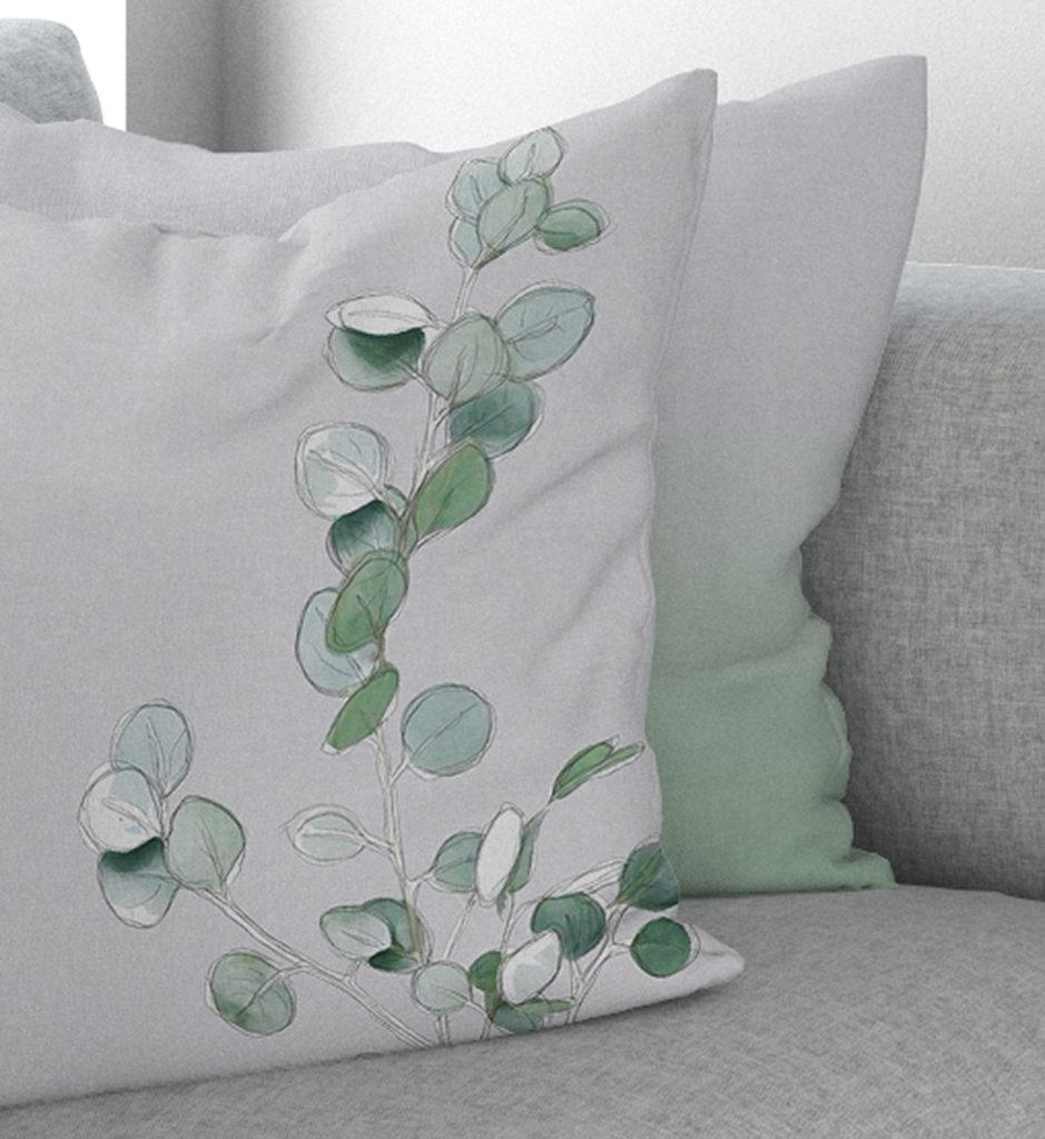 botanical drawing cushion