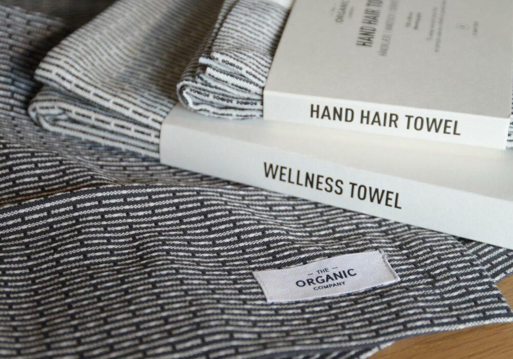 certified organic cotton towels modern monochrome weave pattern