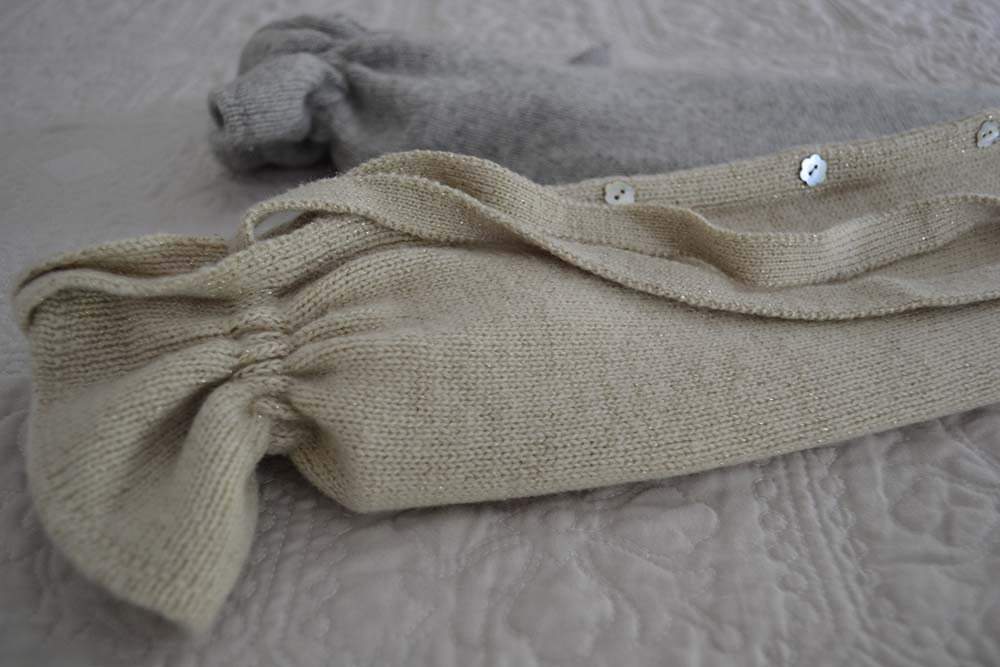 luxury hot water bottle with knitted cashmere cover
