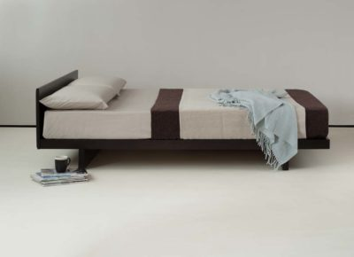 Japanese style bed - wenge stained Kumo bed - side view