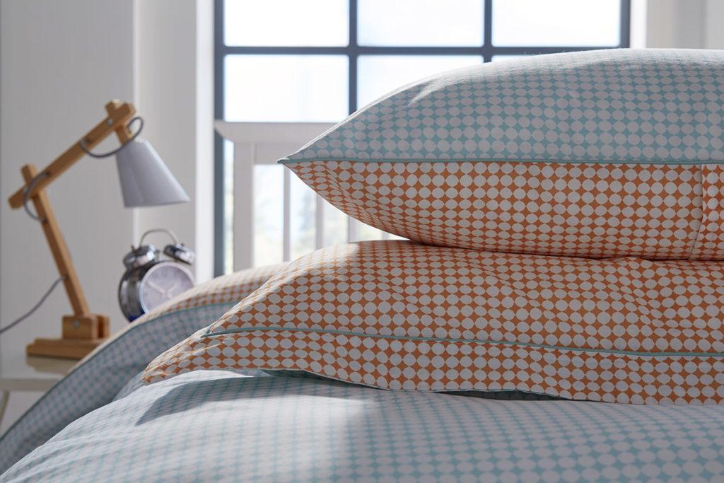 Marakesh printed bedding - pillow detail