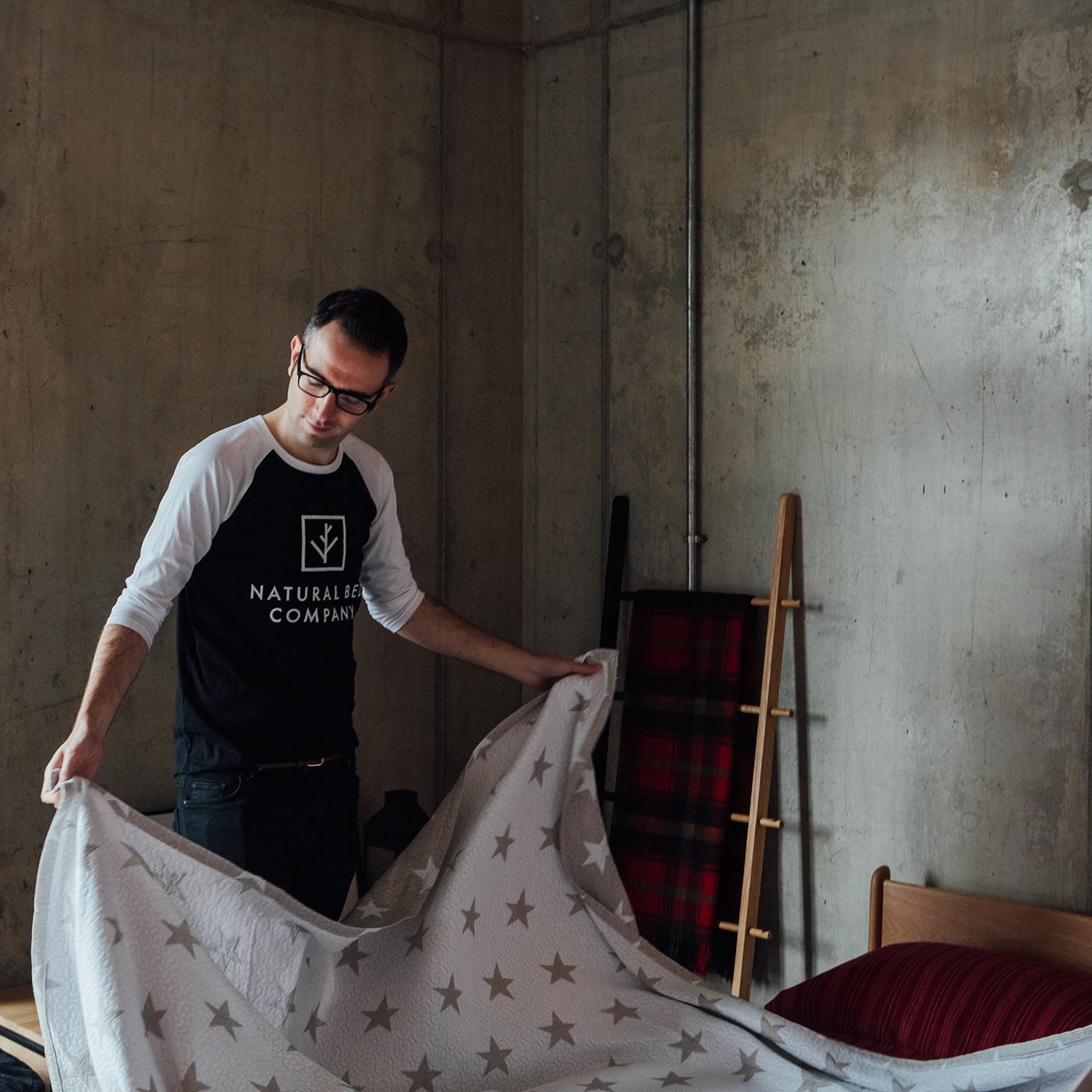 Matt-dressing-a-bed