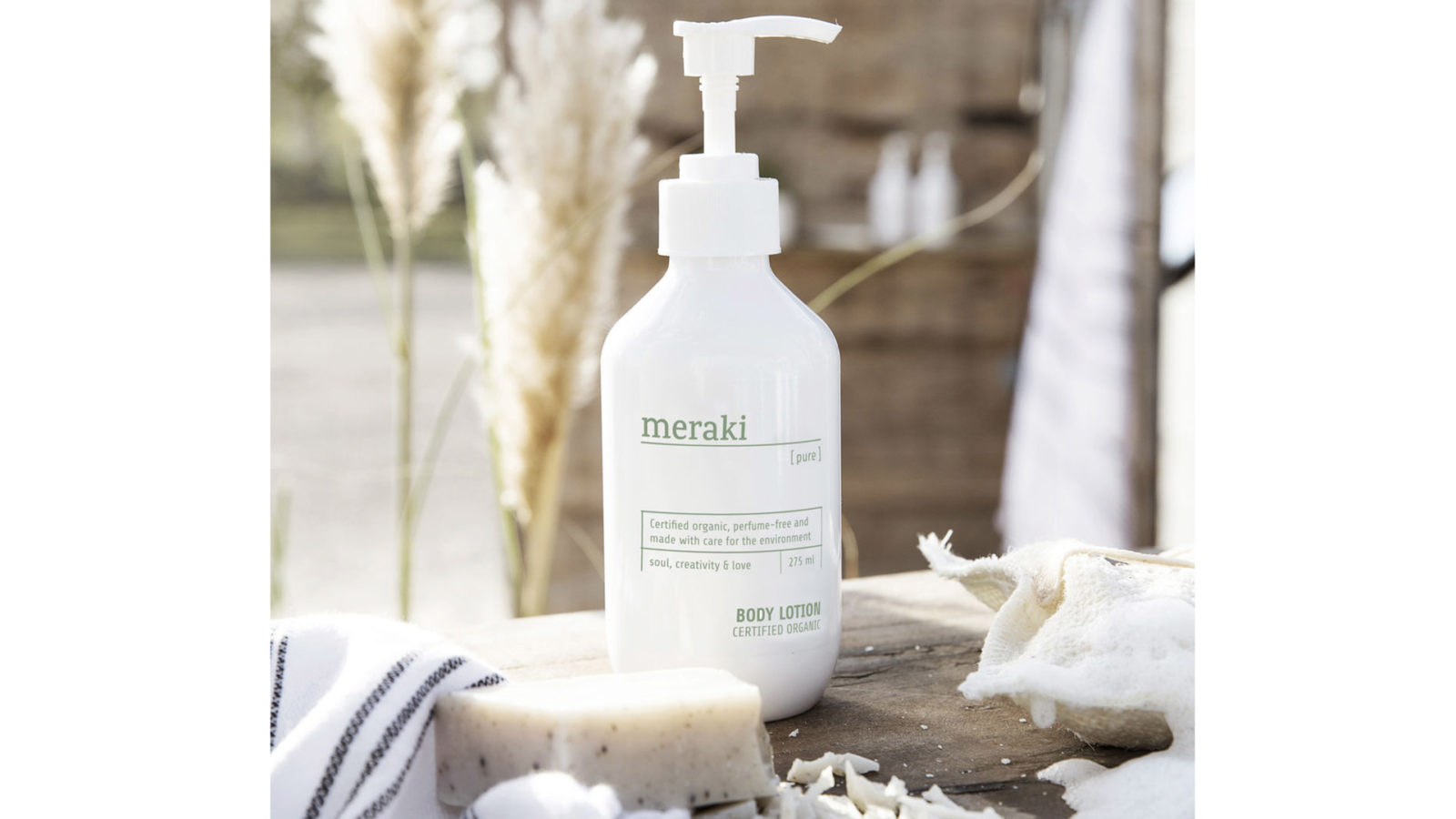 Meraki certified organic, perfume and paraben free body-lotion