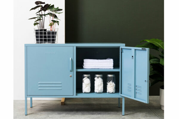 Lowdown Locker in Ocean-Blue - sideboard locker - mid blue