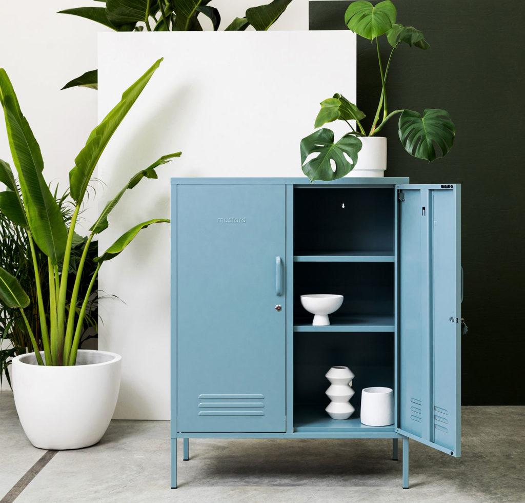 Midi locker in ocean-blue - large cupboard