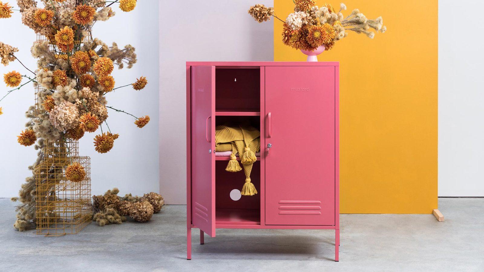 Midi storage cupboard - midi pink locker