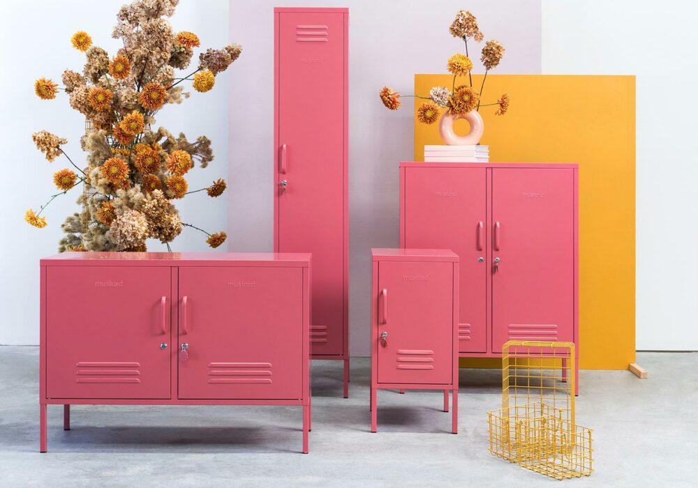 Pink Storage Collection - rose pink locker collection
