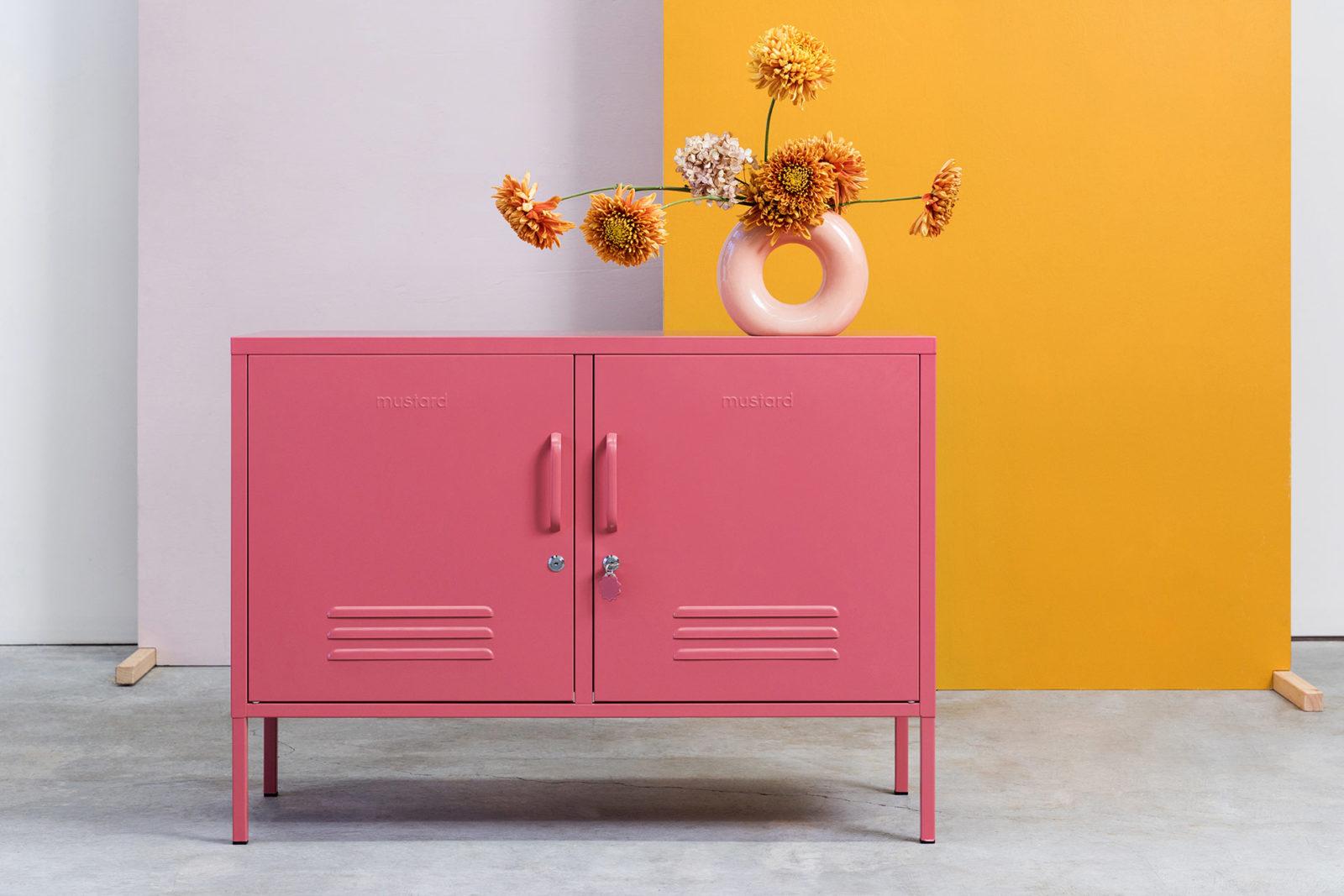 Pink Low Wide Locker - MustardMade Lowdown