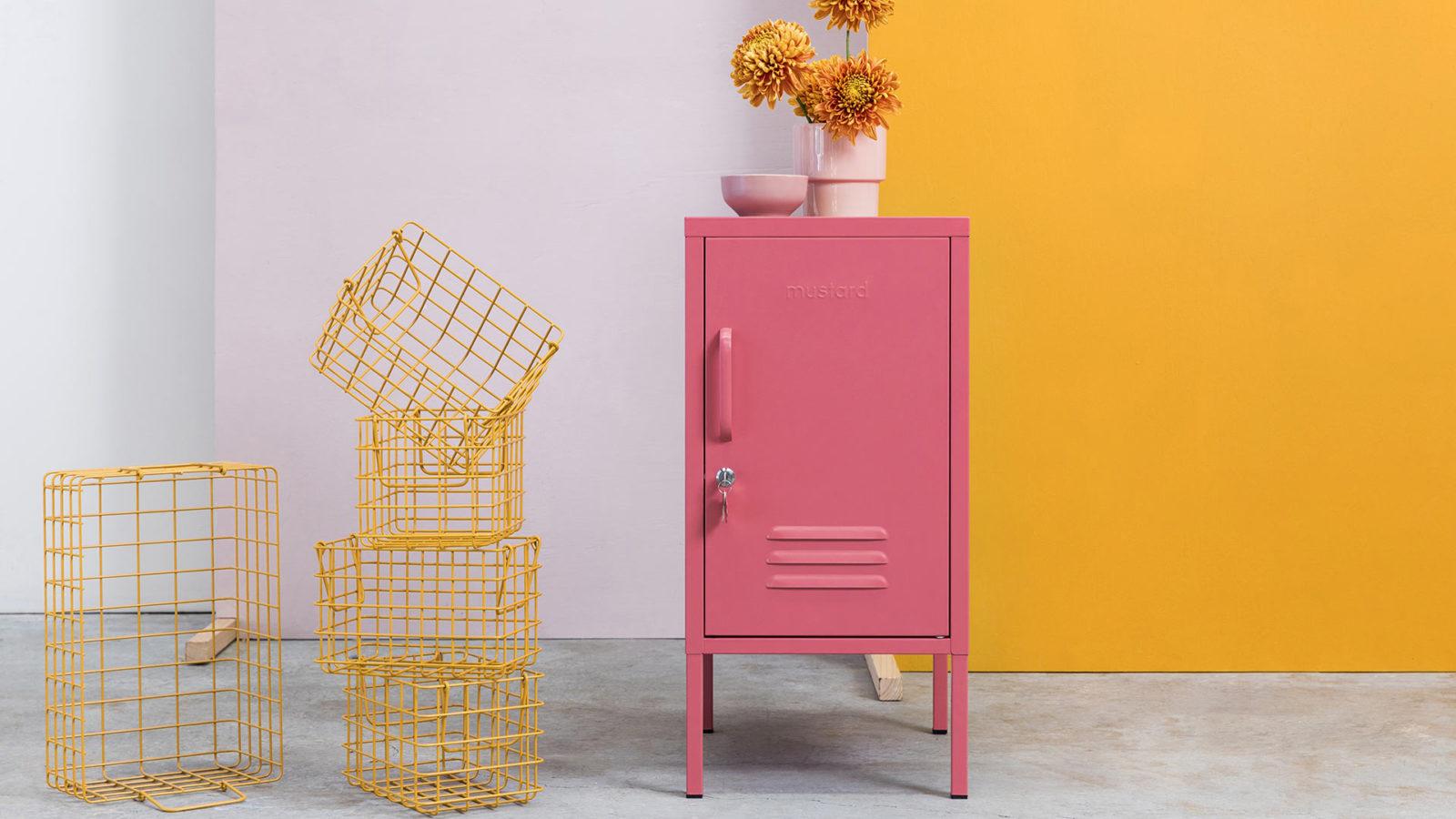 Shorty Bedside Locker - rose pink
