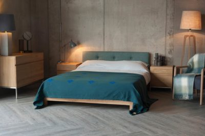 Ligna bedside cupboards with Iona bed