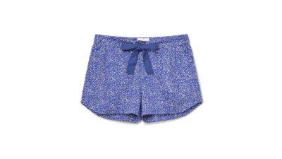 sleep shorts - blue printed cotton