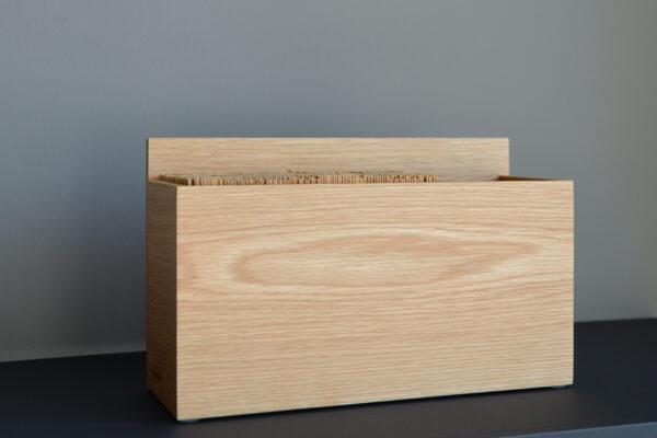 natural oak contemporary knife block and kitchen utensils holder