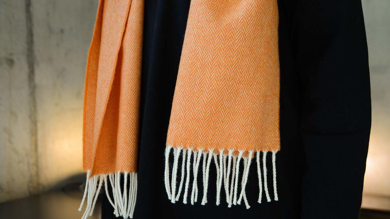 herringbone merino lambswool scarves