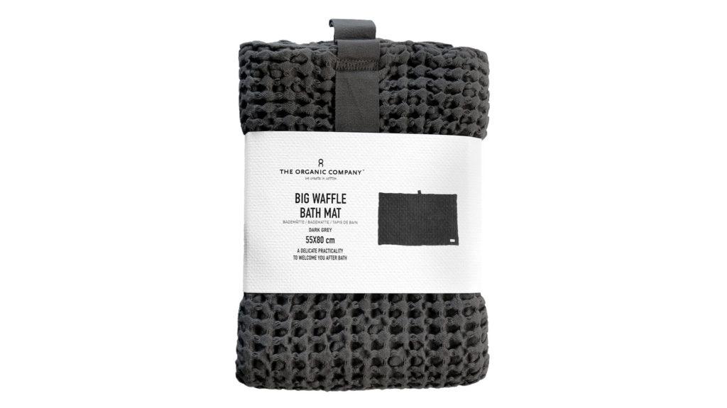 Organic-Cotton-Bath-Mat-Dark-Grey-Waffle