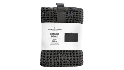 Organic-Cotton-Bath-Mat-Dark-Grey-Waffle