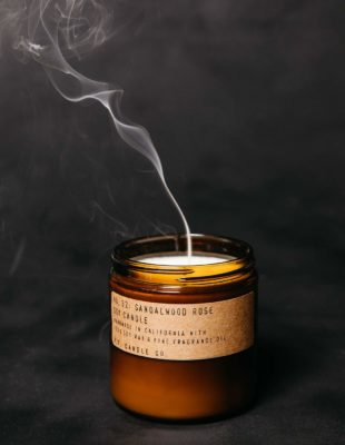 P.F scented candles - sandalwood rose