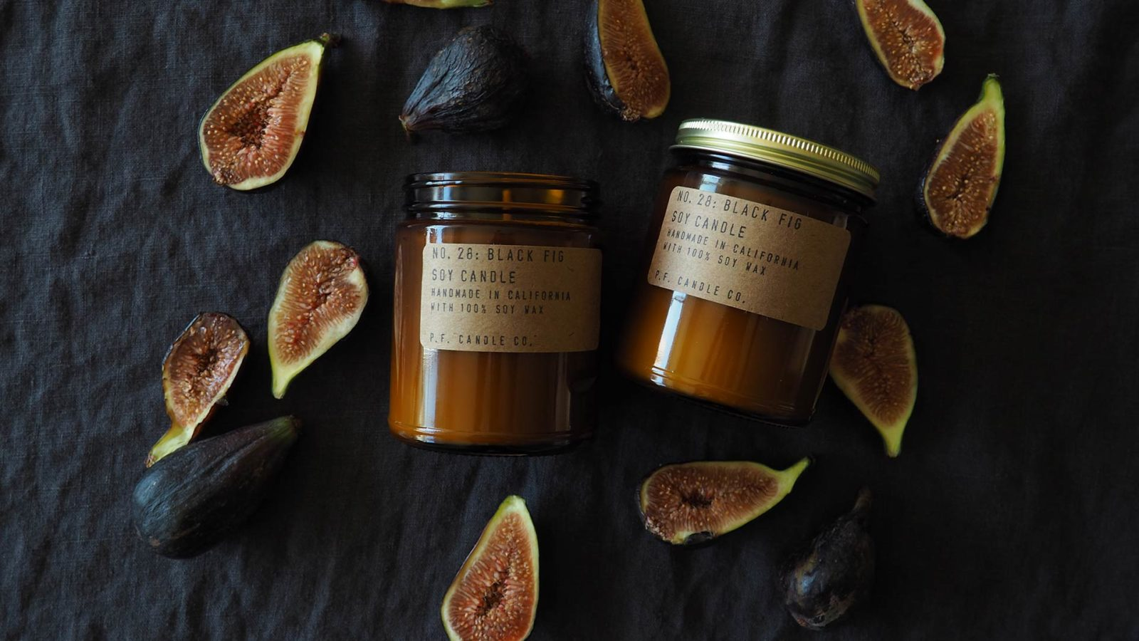 P.F. scented candles - black fig