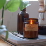 P.F. scented candles - teakwood and tobacco