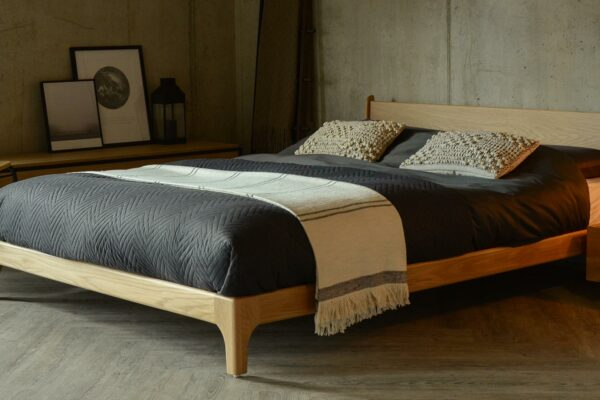 Available to order in a choice of wood this is our Pimlico bed in Oak