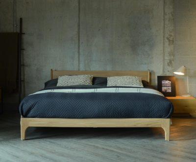 Pimlico-low-retro-oak-bed-front