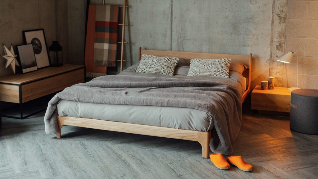 Pimlico mid-century style bed, low and luxurious