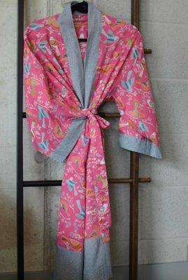 Pink-Birds-Cotton-Kimono-portrait