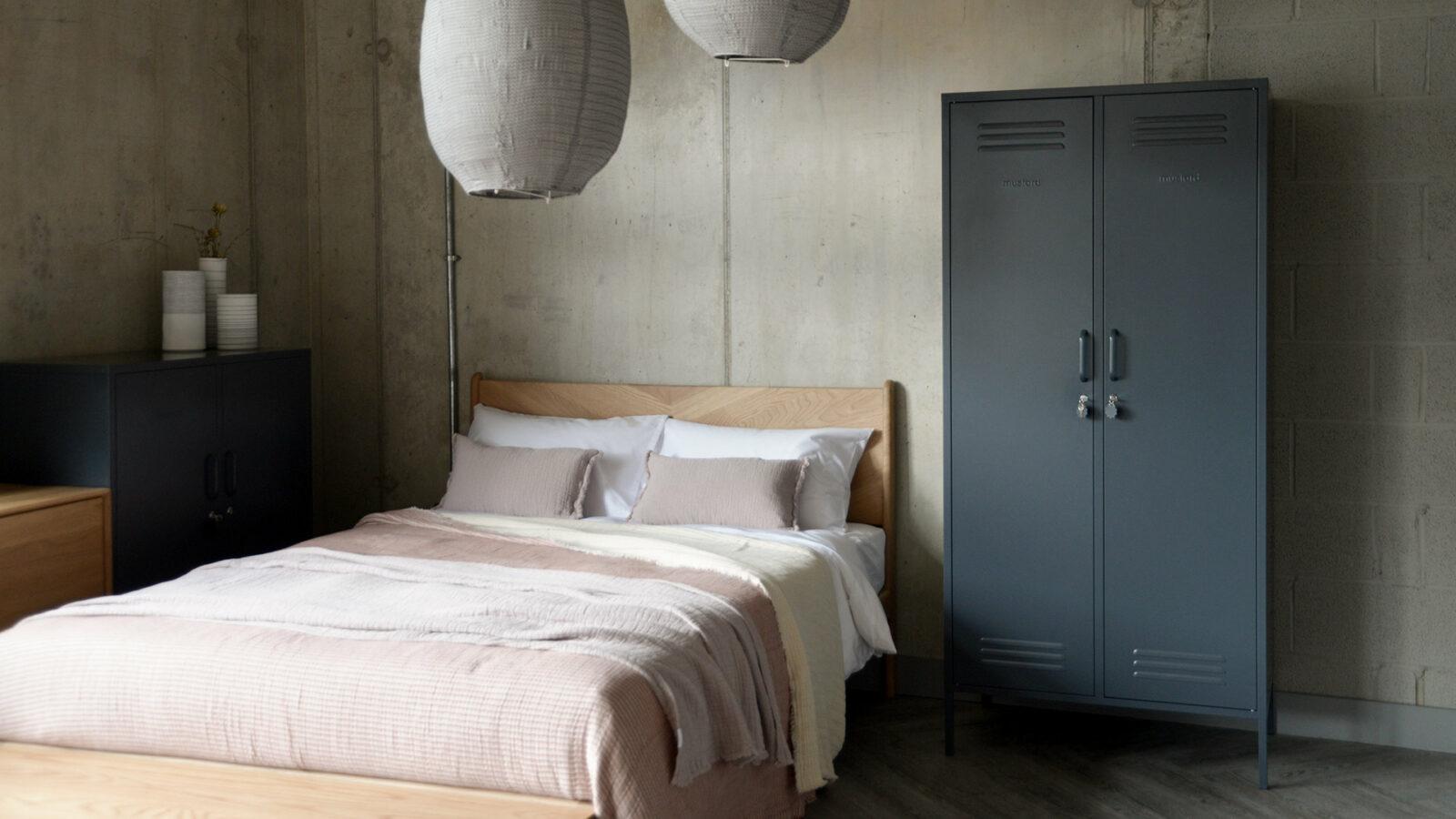 twinny a double storage locker here in slate grey colour